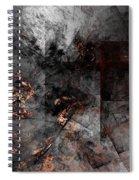 Abstract 01-07-10-a Spiral Notebook