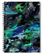 Abstract 011211 Spiral Notebook