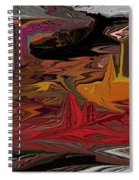 Abstract 011311 Spiral Notebook