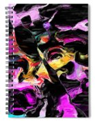 Abstract 011715 Spiral Notebook
