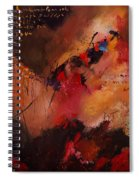 Abstract 0408 Spiral Notebook