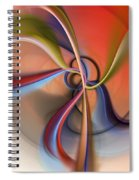 Abstract 0414111 Spiral Notebook