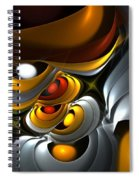 Abstract 061010 Spiral Notebook