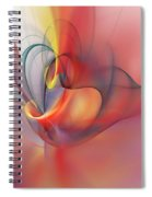 Abstract 062910 Spiral Notebook
