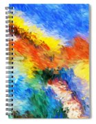 Abstract 070411 Spiral Notebook