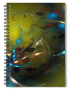 Abstract 071910 Spiral Notebook