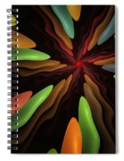 Abstract 080610 Spiral Notebook