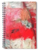 Abstract 107 Digital Oil Painting On Canvas Full Of Texture And Brig Spiral Notebook
