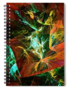 Abstract 110810 Spiral Notebook