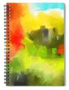 Abstract 112210 Spiral Notebook