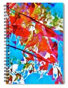 Abstract 128 Spiral Notebook