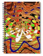 Abstract #1859drawpc Spiral Notebook