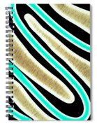 Abstract 35 Golden Tan Green Turquoise Spiral Notebook