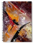 Abstract 45 Spiral Notebook