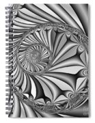 Abstract 527 Bw Spiral Notebook
