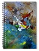 Abstract 66018002 Spiral Notebook