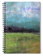 Abstract Aqua Sky Landscape Spiral Notebook