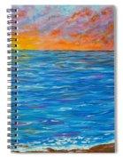 Abstract Art- Flaming Ocean Spiral Notebook