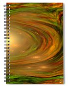 Abstract Art -the Core By Rgiada Spiral Notebook