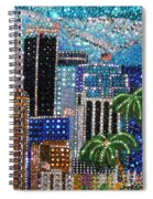 Los Angeles. Rhinestone Mosaic With Beadwork Spiral Notebook