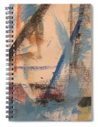 Abstract At Sea 3 Spiral Notebook
