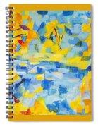 Abstract Autumn Landscape Spiral Notebook
