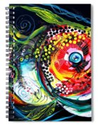 Abstract Baboon Fish Spiral Notebook