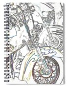 Abstract Bikes Spiral Notebook