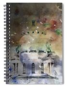 Abstract Birds In A Swirl Of Sky Colors Spiral Notebook