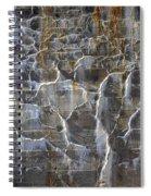 Abstract Bleeding Concrete Spiral Notebook