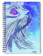 Abstract Blue Cat Spiral Notebook