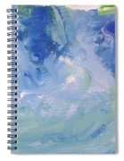 Abstract Blue Reflection Spiral Notebook