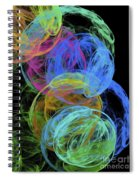 Abstract Bubbles Spiral Notebook