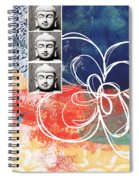 Abstract Buddha Spiral Notebook