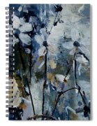 Abstract Bunch Of Flowers  Spiral Notebook