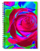 Burgundy Rose Abstract Spiral Notebook