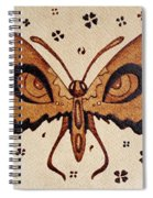 Abstract Butterfly Coffee Painting Spiral Notebook