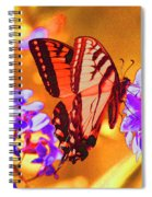 Abstract Butterfly Spiral Notebook