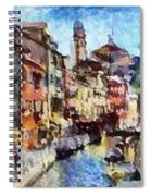 Abstract Canal Scene In Venice L B Spiral Notebook