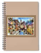 Abstract Canal Scene In Venice L A S With Decorative Ornate Printed Frame. Spiral Notebook