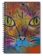 Abstract Cat Meow Spiral Notebook