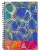 Cells 7 - Abstract Painting Spiral Notebook