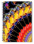Abstract Collage Of Colors Spiral Notebook