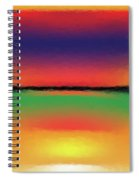 Abstract Color Blends Spiral Notebook