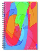 Abstract Color Block  Spiral Notebook