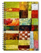 Abstract Color Study With Checkerboard And Stripes Spiral Notebook
