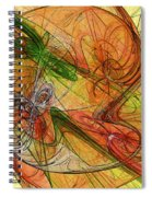 Abstract Color Swirls Spiral Notebook