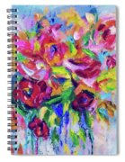 Abstract Colorful Flowers Spiral Notebook