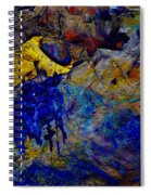 Abstract Composition Spiral Notebook