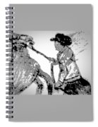 Abstract Cowboy And Horse Spiral Notebook
